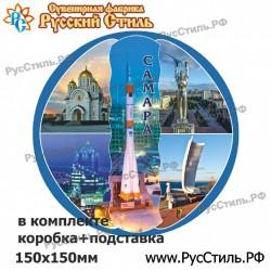 """!Магнит """"Волоколамск Полистоун фигурный_22"""""""