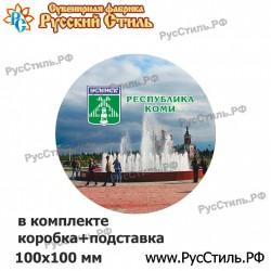 """Тарелка деревянная Большая """"Владимир_02"""""""