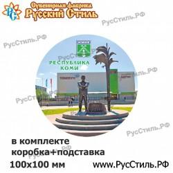 """Тарелка деревянная Большая """"Владимир_03"""""""