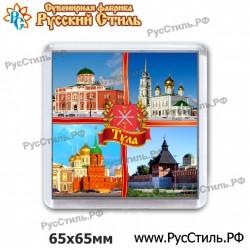 """Тарелка Деревянная Большая""""Ржев_07""""(Ржевский район)"""