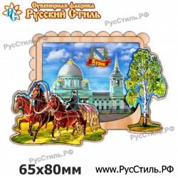 """Тарелка деревянная Большая """"Тверь_01"""""""