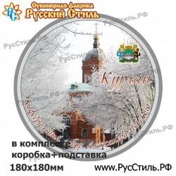 """Тарелка деревянная Большая """"Тамбов_03"""""""